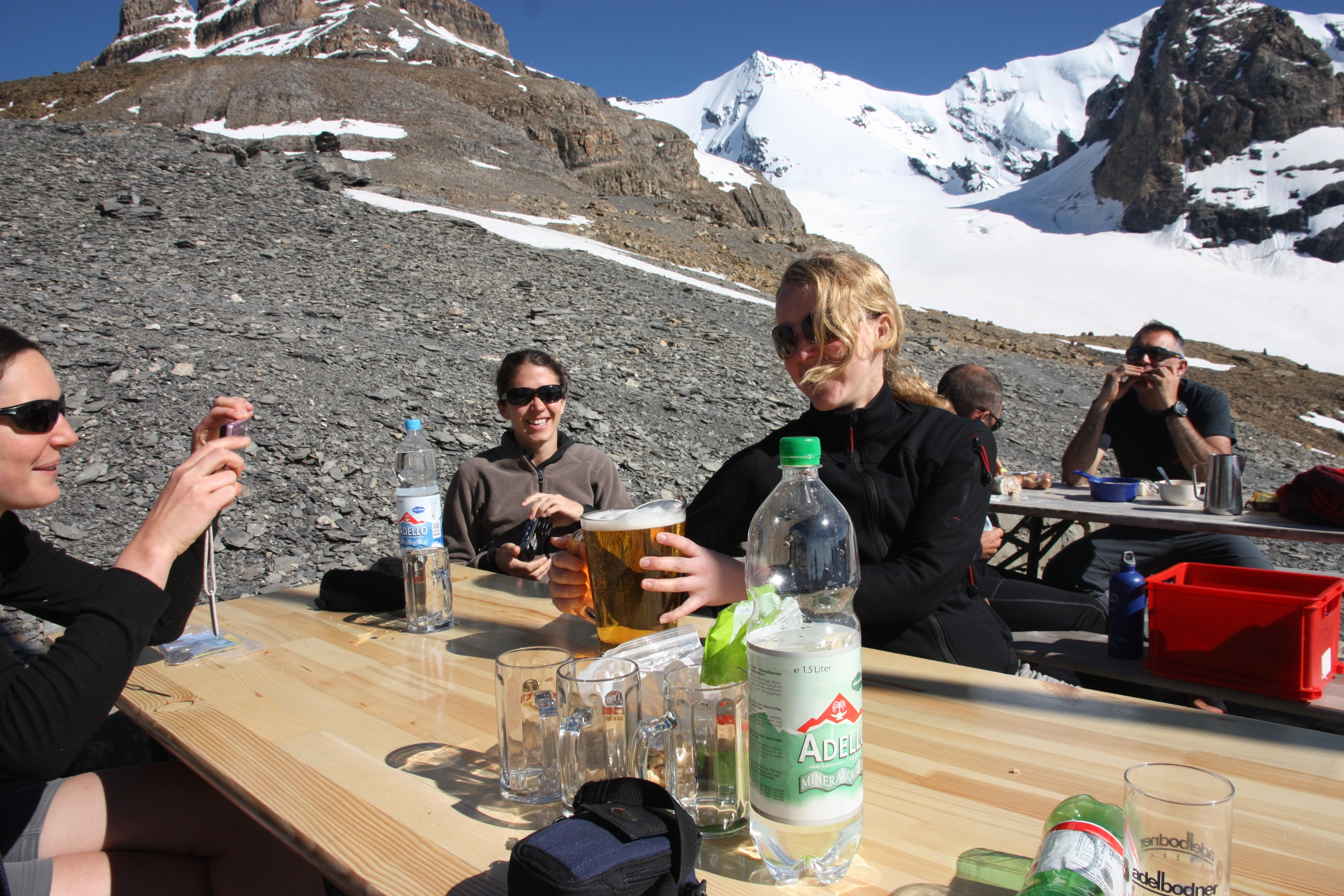 A well earned beer at high altitude :)